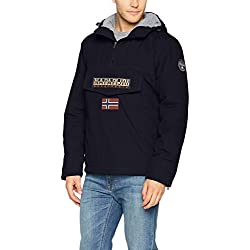 Napapijri Men's Rainforest Winter Jacke Jacket, Blue (Blu Marine 176), Small