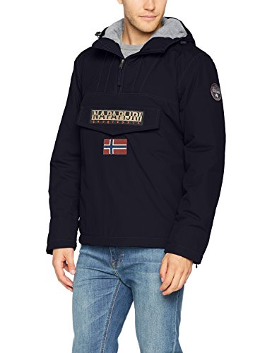 NAPAPIJRI Rainforest Winter Jacke Giacca, (Blu Marine 176), Large Uomo