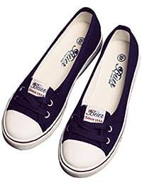 Zapatos Planos Conducir Mocasines Trabajo Zapatos de Lona Zapatos con Cordones Ocio Retro Moda Bombas,