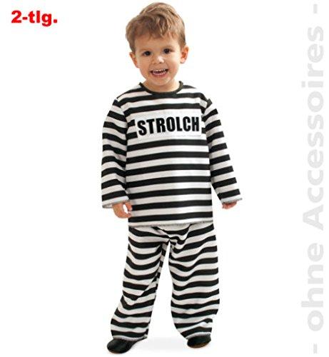 narrenwelt Kleiner Strolch 2tlg. Oberteil + Hose Anzug Baby Kleinkind Kostüm Kinder-Kostüm Gr 92