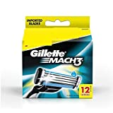 Gillette Mach 3 Manual Shaving Razor Blades (Cartridge) 12s pack