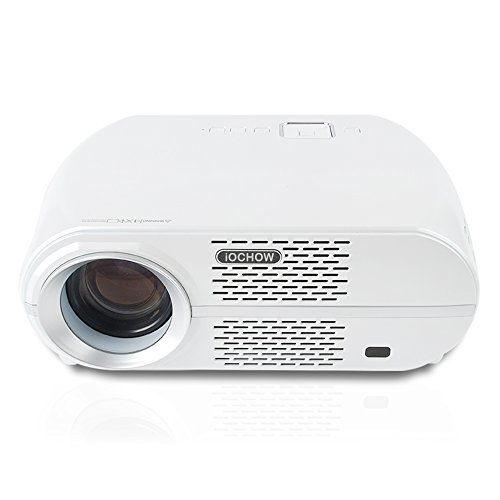 iOCHOW iO6 Beamer, 3200 Lumen LED, HD native Bildschirmauflösung,3000:1 Kontrastverhältnis