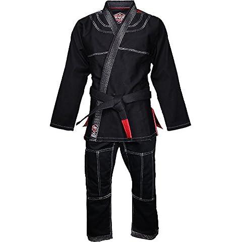 Venum, Kimono per jiu jitsu brasiliano Uomo Challenger 2.0 per BJJ, Nero (Black), A2