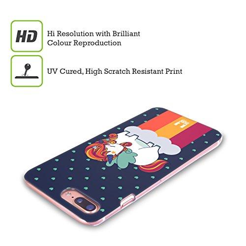 Head Case Designs Collection Fancy Unicorns Chubby Coque pour Apple iPhone 4 et 4S Motif licorne et arc-en-ciel Hiver