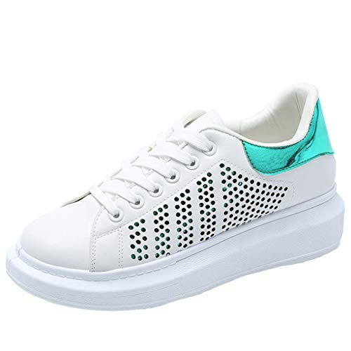Sneakers Basse da Donna Vendita Piattaforme con Lacci Calzature Piatte per Donna/Ragazza By Kinlene