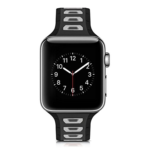 Qkldm Replacement Bracelet for Apple Watch 42 mm PU Leather with Stainless Steel Belt Buckle Leather Watch for Apple Watch 42 mm Series 1/2/3 (/*105), 8