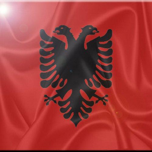 Rikki Knight rk-8intilec-272420,3x 20,3cm Albanien Flagge Design Keramik Art Tile