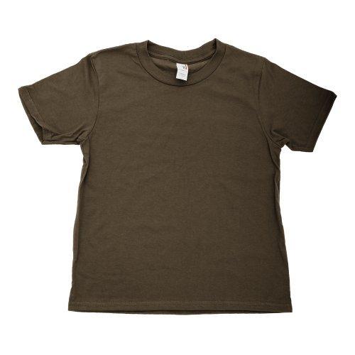Anvil- Camiseta de manga corta/ uniforme de colegio para niños/niñas (Grande (L)/Marrón chocolate)