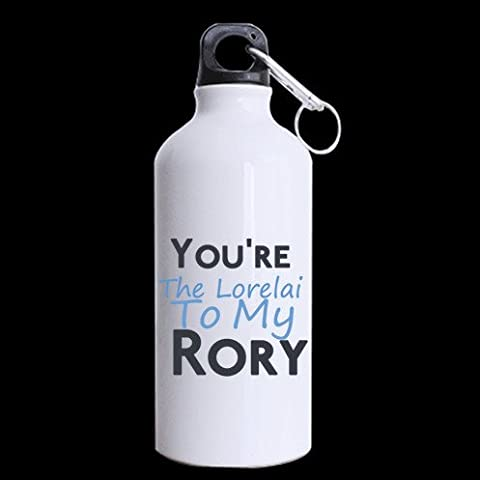 Personalized Funny Quotes Theme You're The Lorelai To My Rory Girls inspired Coffee Cup, Tea Mug for Mom, Sister or Best Friend Sports Bottle - Aluminum Material Water Bottle - 13.5 OZ Two Sides Print by Funny Quotes Sports Bottle