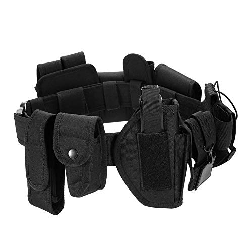 heling896 10pcs Outdoor Tactical Gürtel, Taktische Polizei Wachmann Ausrüstung Pflicht Utility Kit Gürtel mit Beutel System, Jagd, Wandern