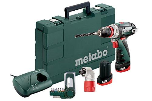 Metabo PowerMaxx BS Quick Basic Set Bohrmaschine einfach Elektrische Kabellos 10.8V/2A Schnellspannbohrfutter