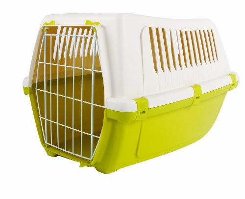 Rosewood 02542 Vision Free 55 Hunde-Transportbox aus Kunststoff, Frühlingsgrün