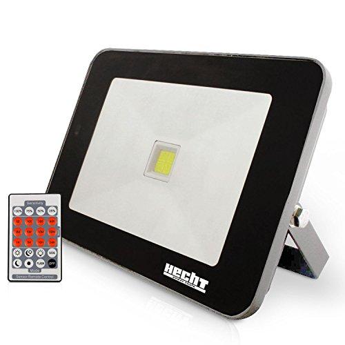 Hecht LED Flutlichtstrahler 2815 mit Bewegungsmelder und Fernbedienung (50 Watt, 4250 lm)
