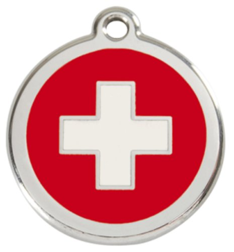 swiss-cross-dog-id-tag-pet-disc-pet-tag-stainless-steel-by-red-dingo