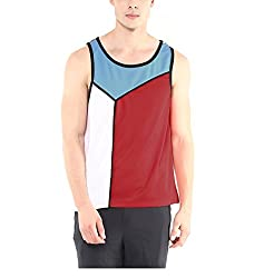 Yepme Mens Red Blended Muscle Vests - YPMMVST0078_L
