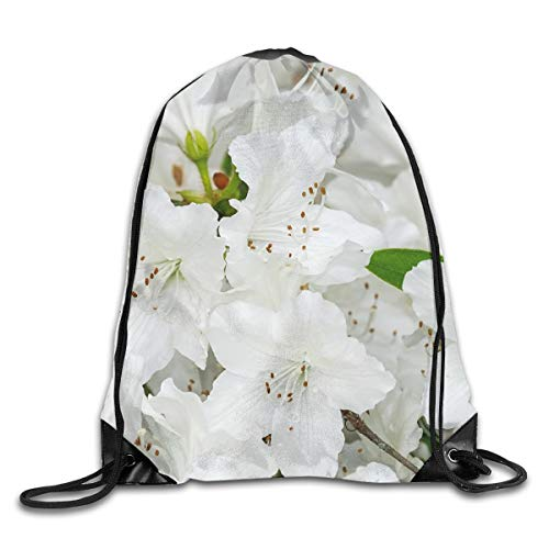 Drawstring Backpack Bags Azalea Palestrina Flowers Sport Athletic Gym Sackpack for Men Women -