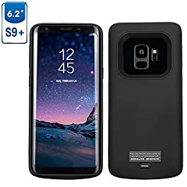 Mbuynow Galaxy S9 Plus Battery Case, 5200mAh Magnetic Rechargeable External Battery Charging Case Slim Extended Backup Power Bank Case for Samsung Galaxy S9 Plus, Black
