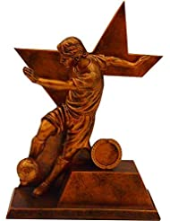 """RESIN MALE FOOTBALL AWARD TROPHY 9.5"""" with FREE Engraving up to 30 Letters"""