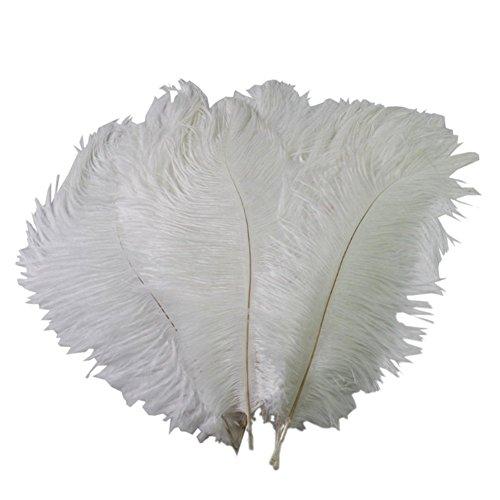 15-20cm naturali Bianco Home Decor piume di struzzo piuma fai-da-te, confezione da 50 - Faux Struzzo