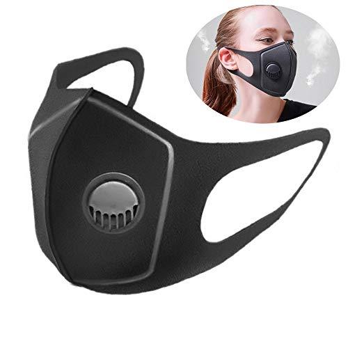 WOQUXIA 3 stücke Mund Maske Anti Staub Doppelschicht Anti-Fog Verschnaufpause Ventil Schwamm Gaze Maske Gesichtsmaske für Outdoor Reiten -