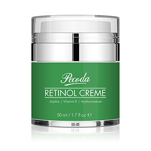 Retinol Feuchtigkeitscreme Creme-2.5{26231a4dd532e9182dd0bf772e2e03c7b7f3319b1e11247389064332581a2d02} Retinol anti falten/anti aging creme für gesicht und augen. Natürliche Hautpflege-Behandlung crème für Frauen und Männer. 50ml