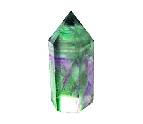 Verde Fluorita bastoncillos, punta y facetado de cristal de curación de Reiki Chakra meditación terapia Decor