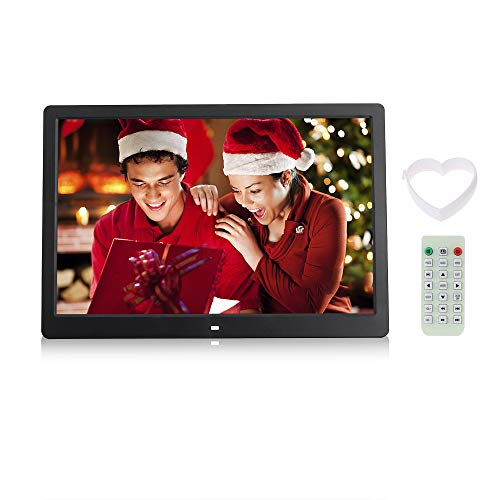"""Andoer® 15.6 \""""Hohe Auflösung 1280 * 800 LED Digitaler Bilderrahmen mit Maschine Wecker MP3 MP4 Player Funktionen mit Fernbedienung Gute Wahl zum Weihnachts Geschenk"""