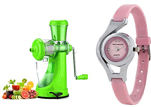 BMS Lifestyle Smart Fruits & Vegetable Juicer with Waste Collector Green