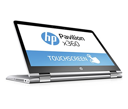 HP Pavilion x360 14-ba017ng 35,6 cm (14 Zoll) Convertible Laptop (Intel Pentium 4415U, 256 GB SSD, 8 GB RAM, Intel HD-Grafikkarte 610, Windows 10 Home 64) silber (Ultrabook-touch-screen)
