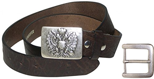 baaebadfc054 Fronhofer Ceinture pour costume traditionnel allemand 100% cuir naturel avec  l aigle bicéphale,