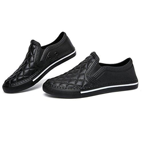 Espadrilles Herren Damen Leicht Sneakers Mokassins Flache Schuhe Schwarz Weiß Rot 36-45 Schwarz