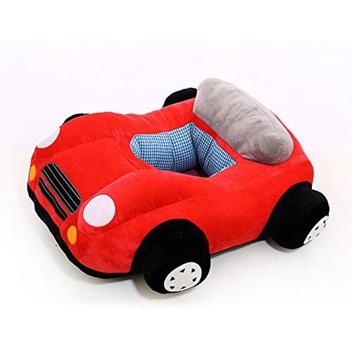 DW&HX Plüsch Auto Sessel für Kinder, Weichen Cute Kindersessel Gemütliche Pp Baumwolle Baby Sitting Stuhl Kinder polsterstuhl Mit Anti-rutsch-Boden -rot 75x65cm(30x26inch)
