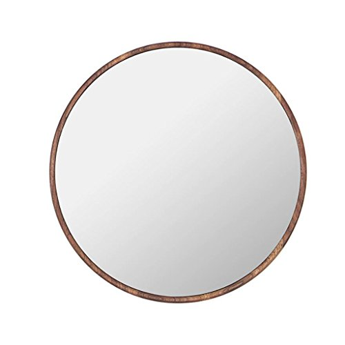 LEI ZE JUN UK- Großer dekorativer gerahmter runder an der Wand befestigter Spiegel-Klassiker-Weinlese-barocker Entwurfs-Holz-Ende Wandspiegel (Sunburst Holz Spiegel)