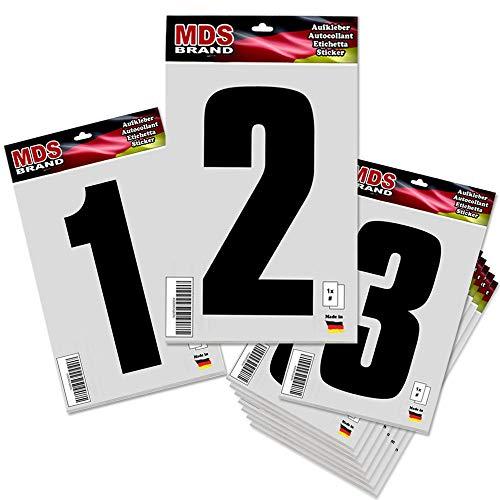 Selbstklebend Nummern Ersatzziffern in Schwarz (0-9 Pack) ()