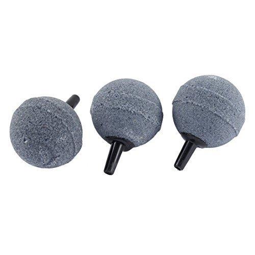 sourcingmapr-3-pz-30-millimetri-forma-dia-della-sfera-rotonda-diffusore-grigio-per-acquario