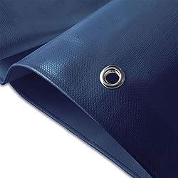Casa pura® - Lona resistente, de alta densidad, de polietileno tejido y doble laminado – 90 g/m² – 100% impermeable y con protección contra rayos ultravioleta, azul