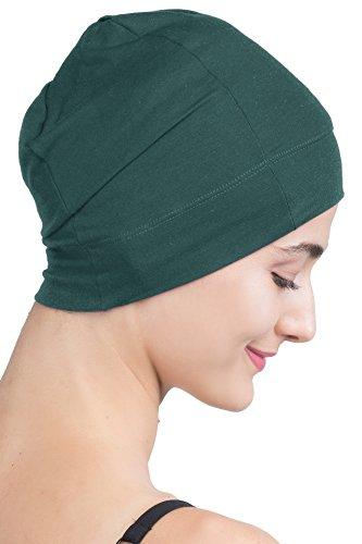 Gemütlicher Schlafmütze - Unisex weiche Nacht Cap für Chemo von Deresin (Jade Green)