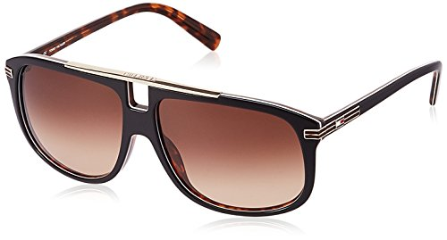 Tommy Hilfiger Gradient Rectangular Men\'s Sunglasses - (7964 Blk/Hav C3 S|60|Brown Color)
