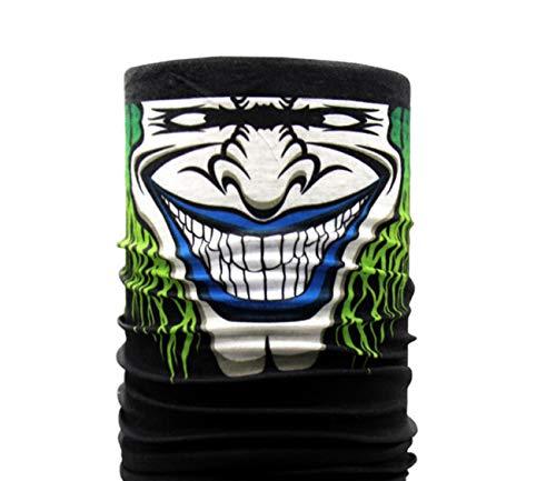MSPTER Gesichtsmaske Halloween Schädel Maske Halstuch mit Totenkopf Halstuch Kopftuch Multifunktionstuch Bandana Jagen Angeln Gamer -