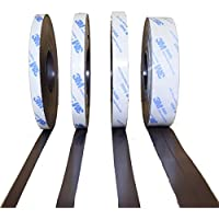 Cinta magnética de Smagnon con adhesivo 3M, varias longitudes y anchuras, para carteles, pictogramas, material de presentación, pizarras magnéticas, tiras magnéticas, para el colegio y presentaciones, color 3 Meter - Typ A + B 15mm breite