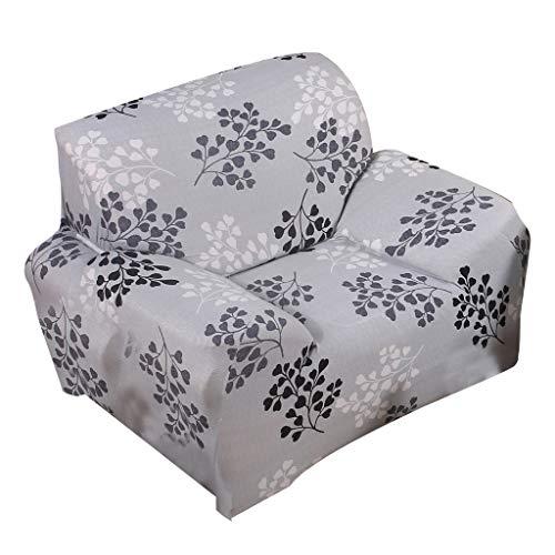 FLAMEER Vintage Sesselschoner Sesselhusse Stretchhusse Sofaschoner Sesselüberwurf, 2 Sitzer - Stil_1