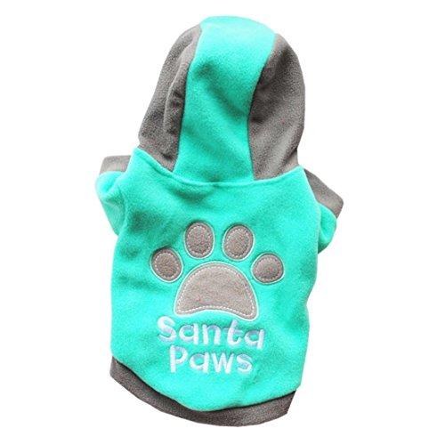 Linlink Haustierkatzenhundehaustier Kleidet Nette Mode Plus Samt Sleeveless Hoodie, Nette Druck T-Shirt Strickjacke, Sport Warm und Weich