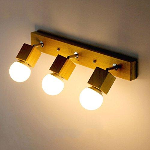 Massivholz-Wand-Lampe führte Treppen-Hall-Dressing-Tisch-Spiegel-Lampe Retro Kunst Handgemachte Wand-Lichter (Piraten Dressing Up)