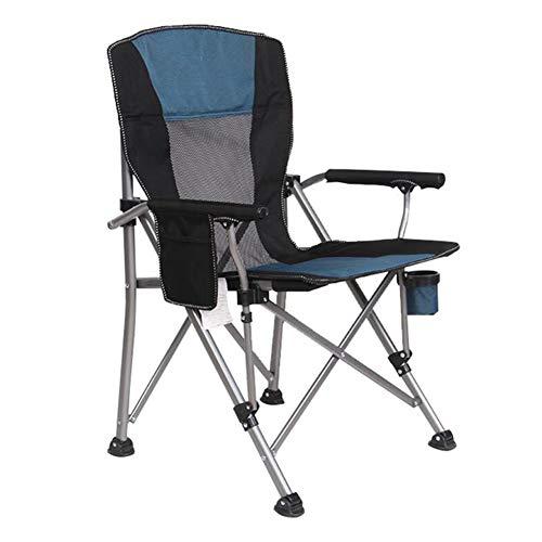 QIDI Chaise Pliante, Chaise de Plage, Chaise de pêche accroupie, Chaise Longue, Simple Moderne Facile à Transporter en Plein air Pliable (Couleur : Blue Back Mesh)