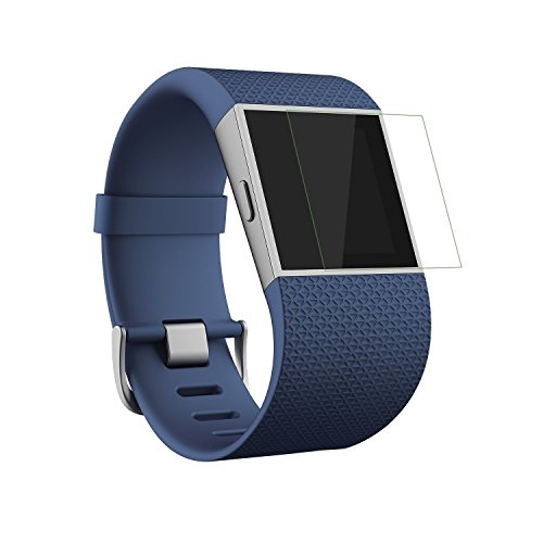 MoKo Fitbit Surge Glas Schutzfolie, 2x Tempered Glass HD 9H Hartglas Schutzglas Panzerglas Displayschutzfolie Glasfolie Displayschutz Screen Protector für Fitbit Fitness Super Watch Fitbit Surge, Klar Super Protector