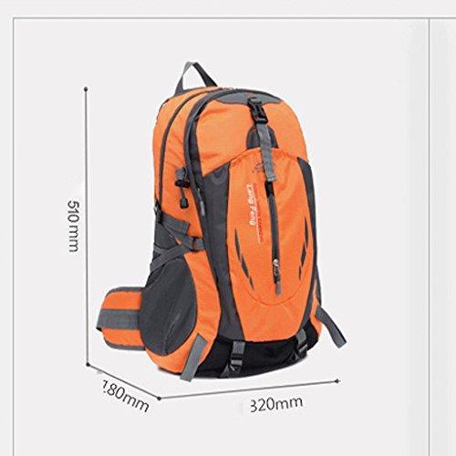 Multifunktions-wasserdichte Outdoor Bergsteigen Rucksack 35L Wanderrucksack Schulter drau?en Rucksack Reise-Paket Blau