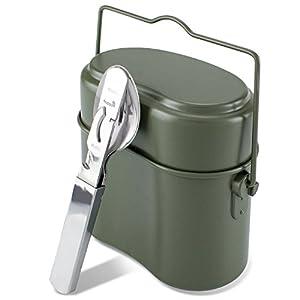 Blacksnake® Bundeswehr Essgeschirrset Essbesteck + BW Aluminium Kochgeschirr