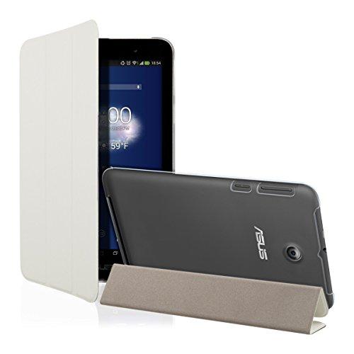 kwmobile Funda para Asus MeMO Pad 7 ME176C   Smart Cover de cuero sintético para tablet   Case ultra delgada para tableta en blanco transparente