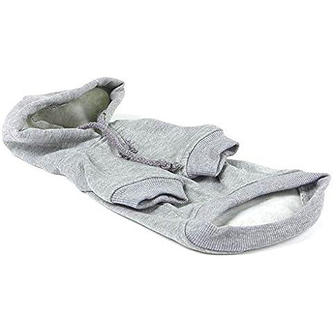 Sudadera gris con capucha para perros XXL