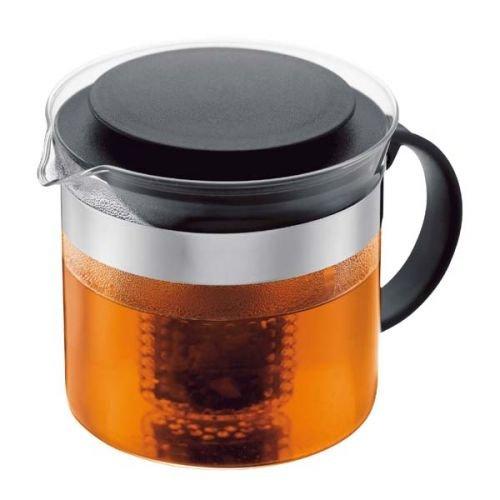 Bodum Teebereiter bistroNouveau (Kunststoff Teesieb, Hitzebeständiges Glas) schwarz